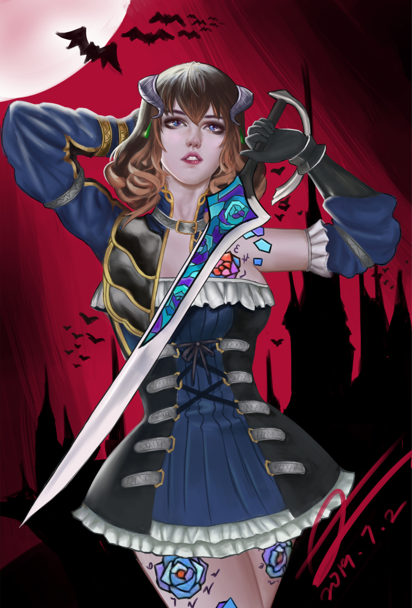 the dominique bloodstained of ritual night Fnaf sister location circus baby fanart